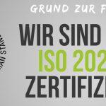 WIR SIND ZERTIFIZIERT NACH ISO 20252