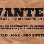 WANTED | Kopfgeld 100 Euro